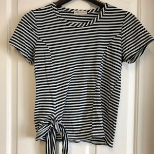 3/$40 Pebble and Stone Striped Tee